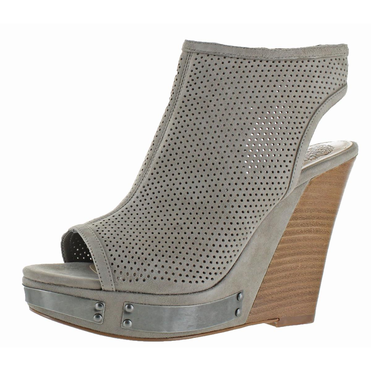 bb2156e3cb9c Details about Vince Camuto Womens Wintana Gray Wedges Shoes 6.5 Medium  (B