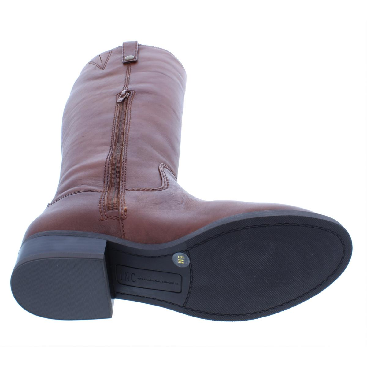 INC-Womens-Fawne-Leather-Knee-High-Tall-Riding-Boots-Shoes-BHFO-5020 thumbnail 10