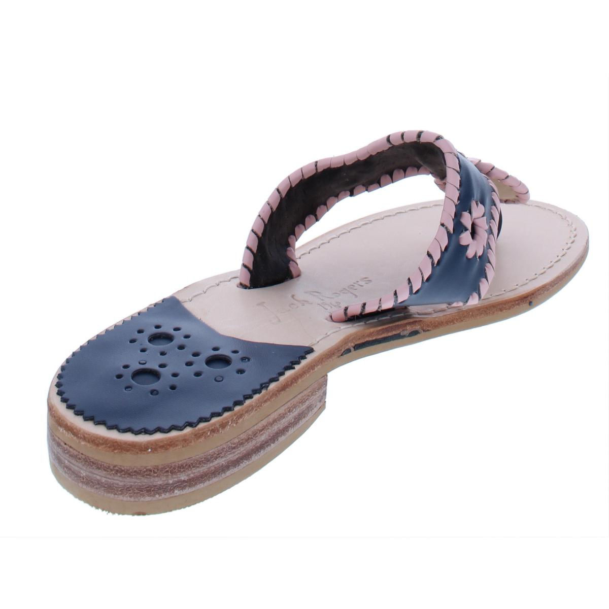 bf0243485 Jack Rogers Womens Makeup Leather Thong Casual Flat Sandals Shoes ...