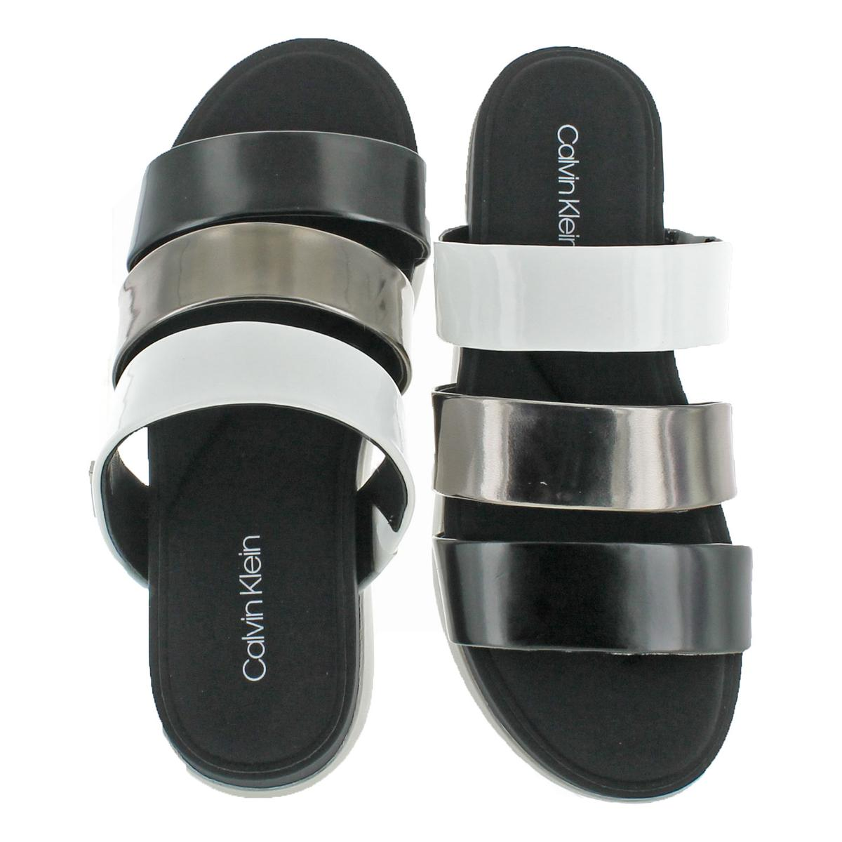 Calvin-Klein-Womens-Dalana-Strappy-Memory-Foam-Slide-Sandals-Shoes-BHFO-5266 thumbnail 6