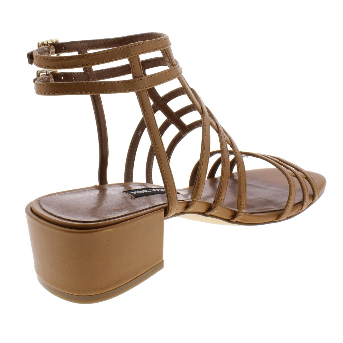 Nine-West-Womens-Xerxes-Leather-Block-Heel-Gladiator-Sandals-Shoes-BHFO-5968 thumbnail 6