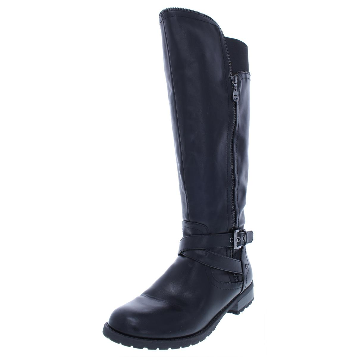 G By Guess Womens Halsey Black Riding Boots Shoes 95 Medium Bm