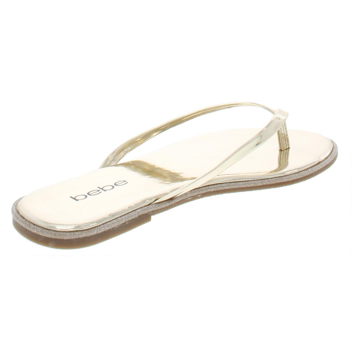 Bebe-Womens-Ilistra-Patent-Slide-Flip-Flops-Shoes-BHFO-7633 thumbnail 6