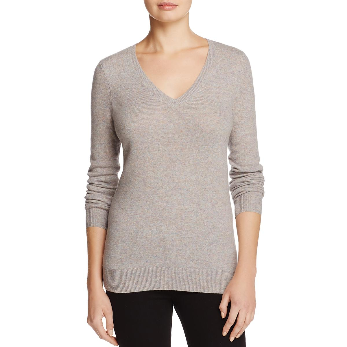 690a7665938 Details about Private Label Womens Gray Cashmere Long Sleeves Pullover  Sweater Top M BHFO 2561
