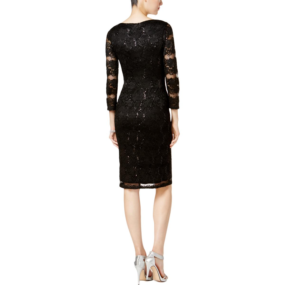Jessica Howard Womens Lace Special Occasion Knee Length Party Dress