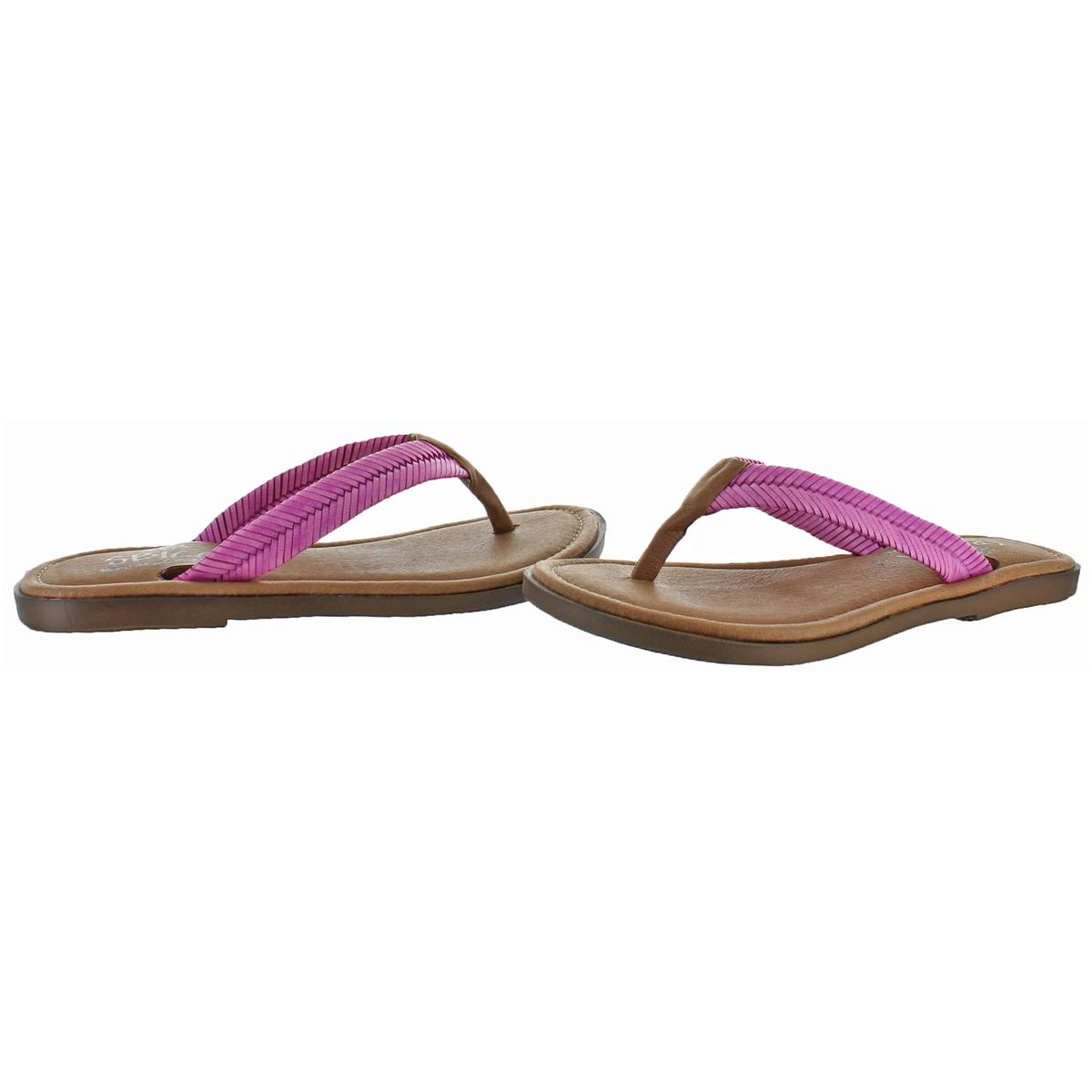 Sbicca-Elonara-Women-039-s-Leather-Slip-On-Chevron-Braided-Thong-Sandals-Shoes thumbnail 3