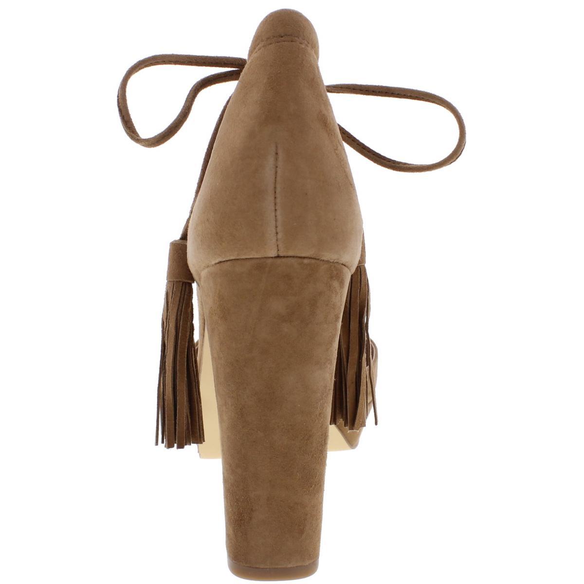 55e45a6c8500 424 Fifth Womens Mara Brown Suede HEELS Dress Sandals 9 Medium (b M ...