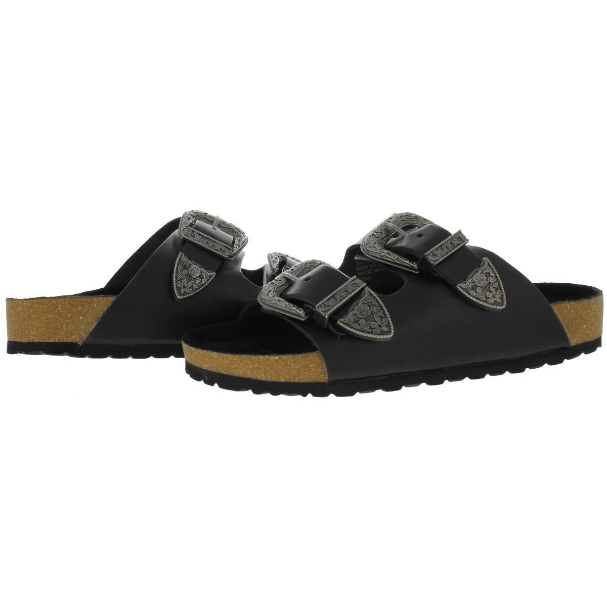611417775aa Steve Madden Womens Smoke Open Toe Double Strap Slide Sandals Shoes ...