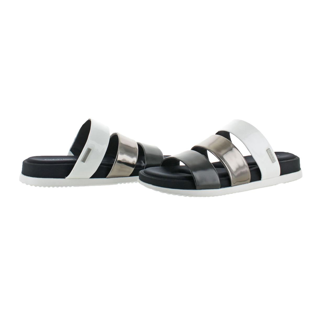 Calvin-Klein-Womens-Dalana-Strappy-Memory-Foam-Slide-Sandals-Shoes-BHFO-5266 thumbnail 5