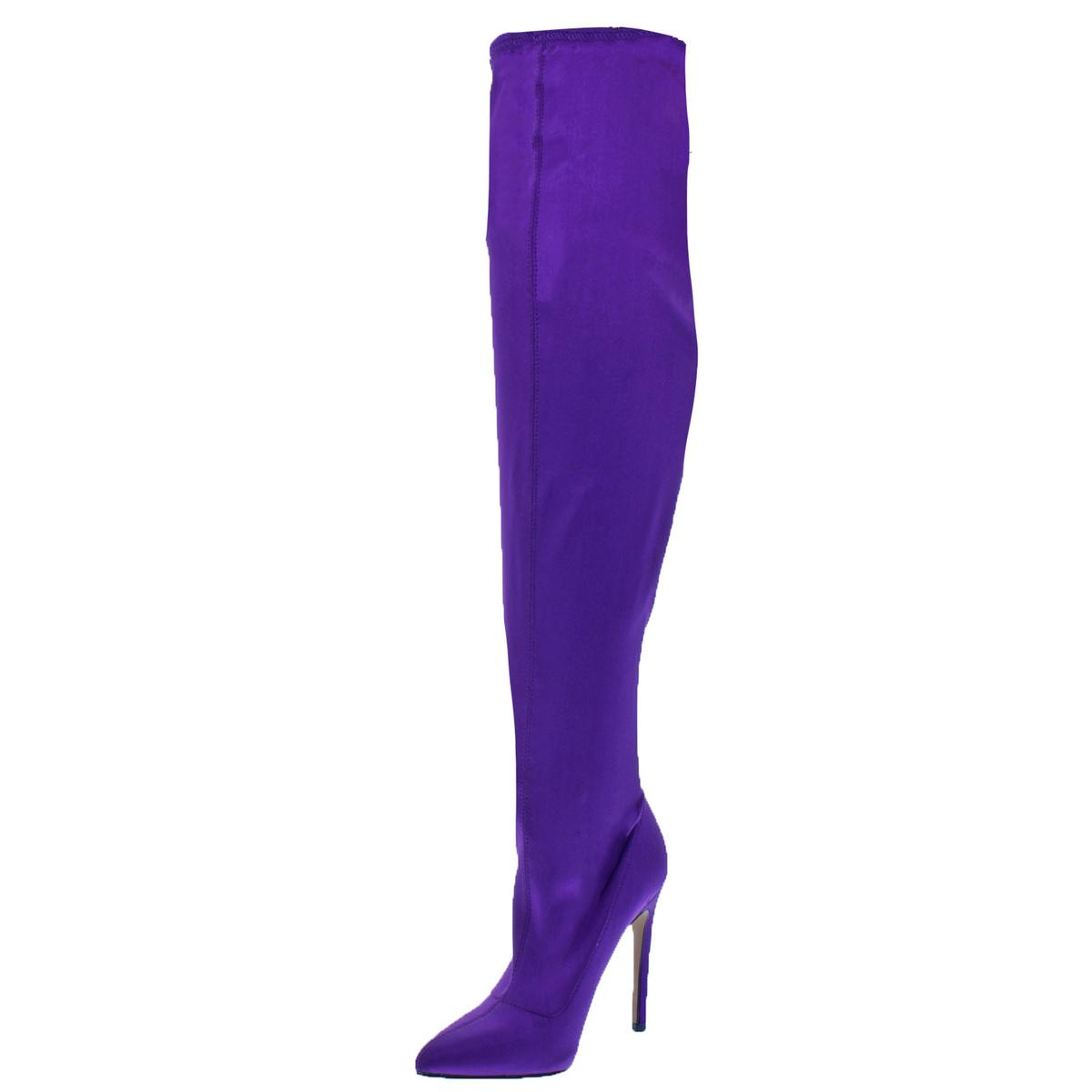 4e1bd865b8d Details about Steve Madden Womens Slammin Purple Over-The-Knee Boots 8.5  Medium (B
