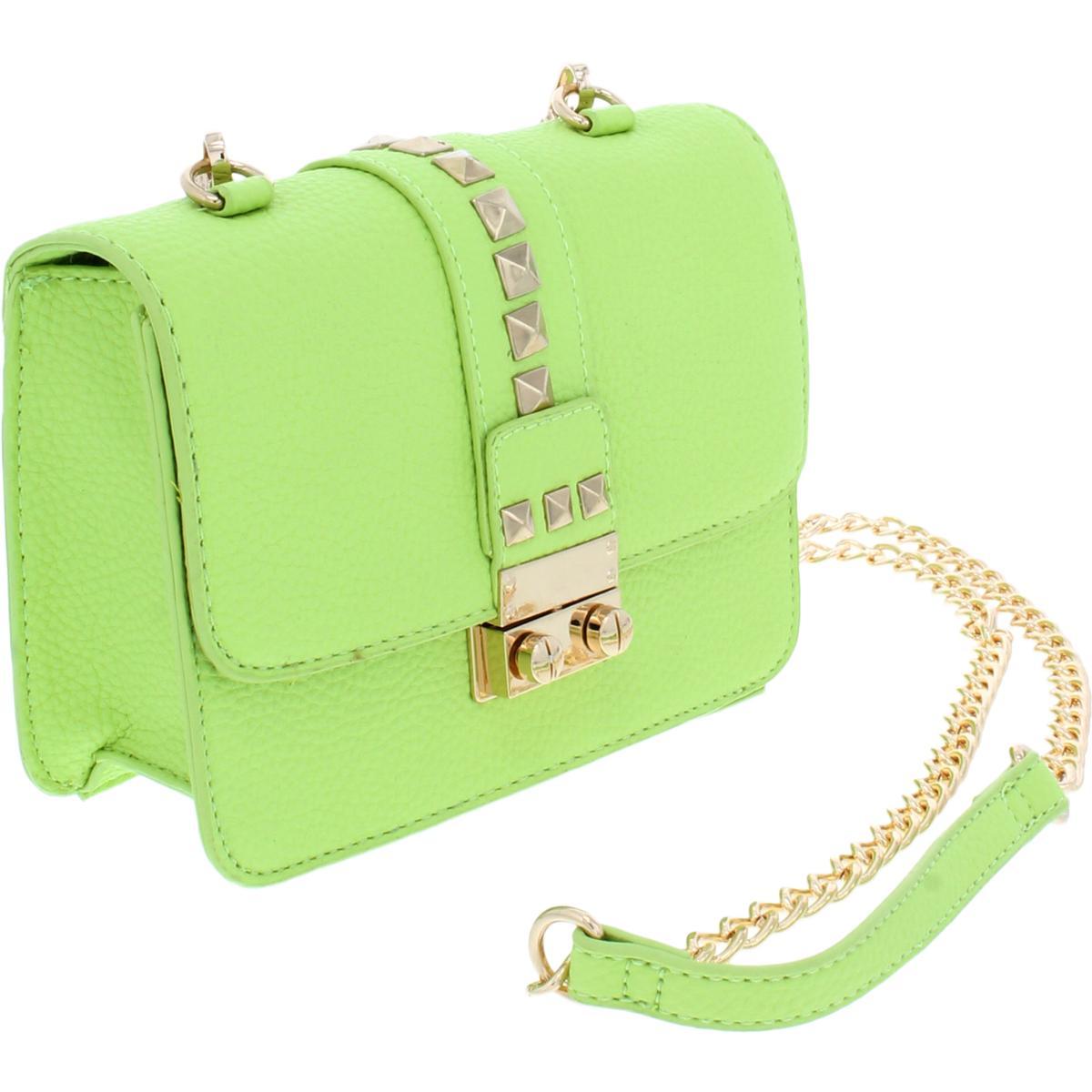 a4c2e34590 BCBG Paris Womens Caviar Faux Leather Mini Crossbody Handbag Purse ...