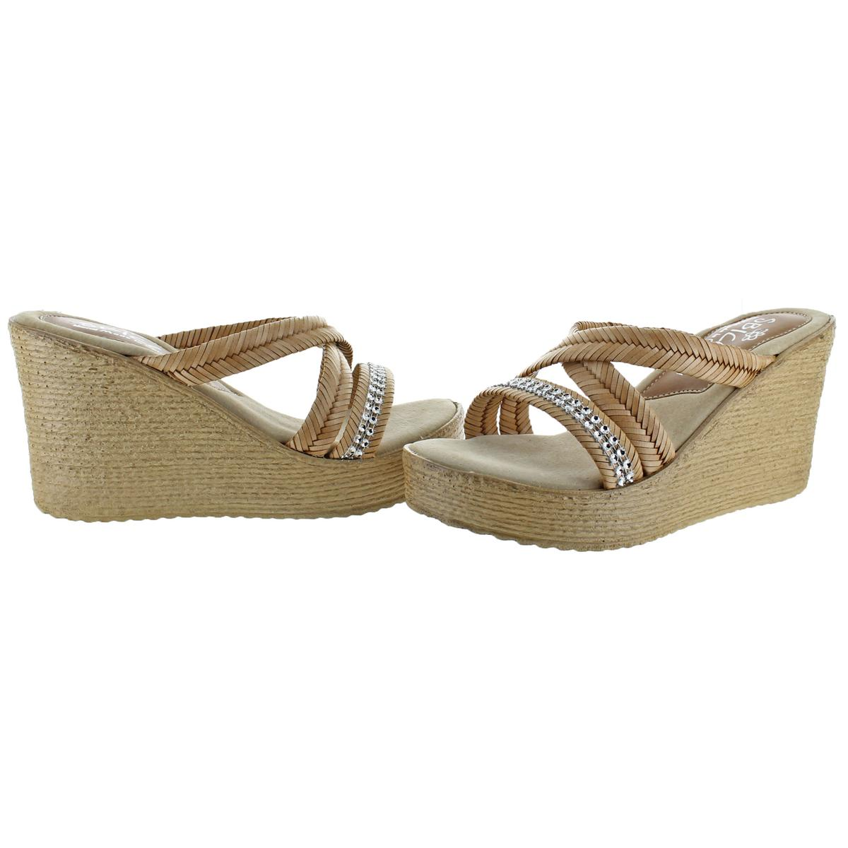 Sbicca-Zennia-Women-039-s-Jute-Slip-On-Chevron-Braided-Wedge-Sandals-Shoes thumbnail 6