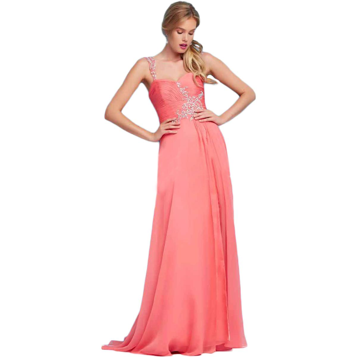 Mac Duggal 6614 Womens Pink Chiffon Prom Pleated Formal Dress Gown 2 ...