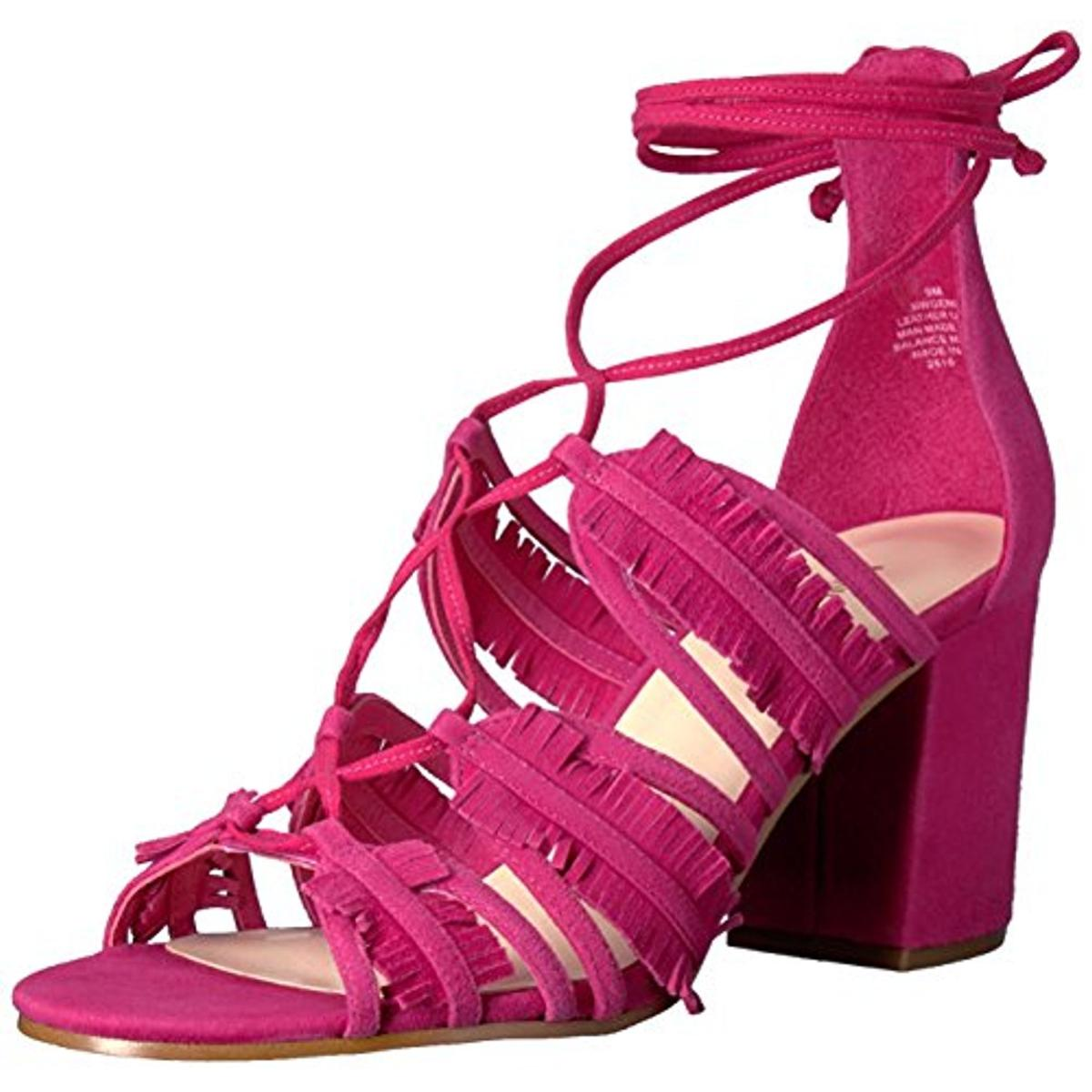 Nine West Damenschuhe Genie Pink Suede Dress Sandales Schuhes 9 Medium (b M