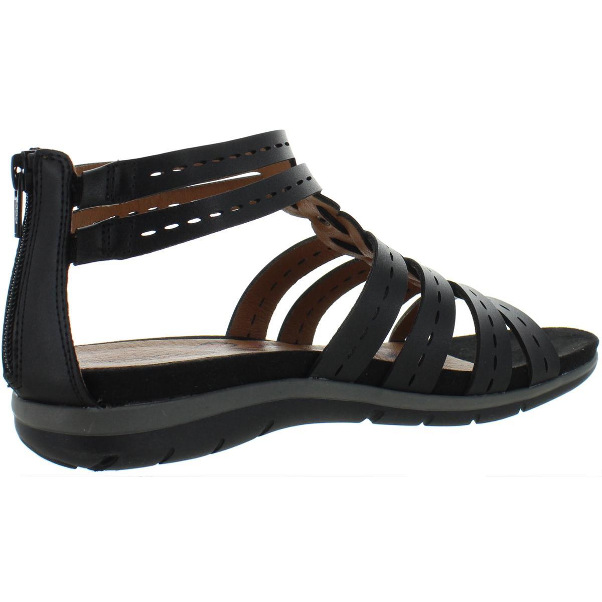 Baretraps-Womens-Kaiser-Solid-Faux-Leather-Flats-Sandals-BHFO-6417 thumbnail 4