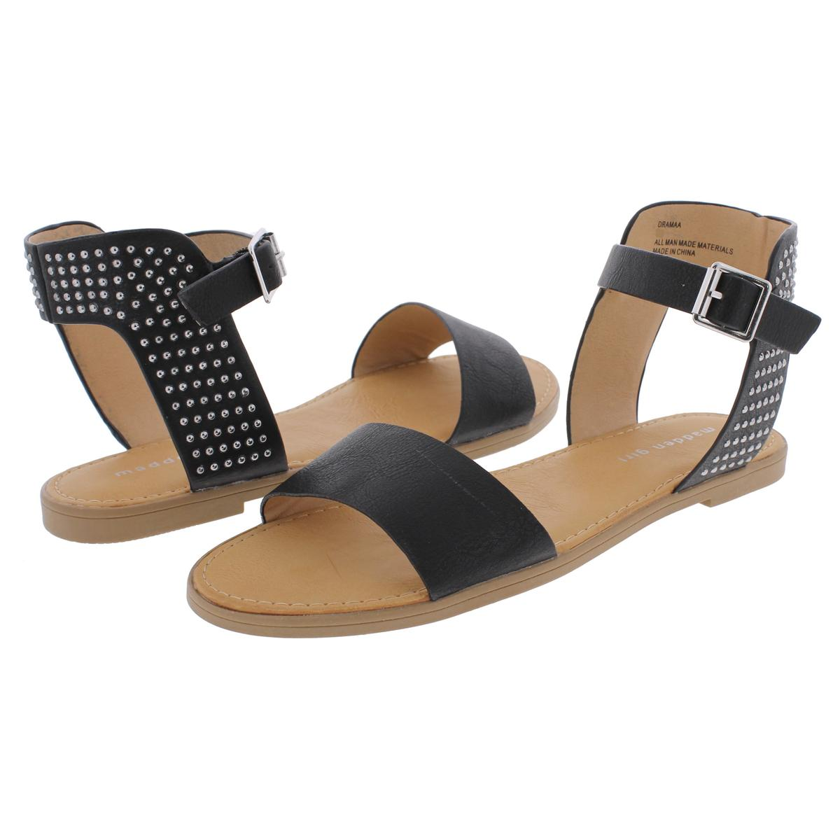 Madden-Girl-by-Steve-Madden-Womens-Drama-Ankle-Flat-Sandals-Shoes-BHFO-9428 thumbnail 7