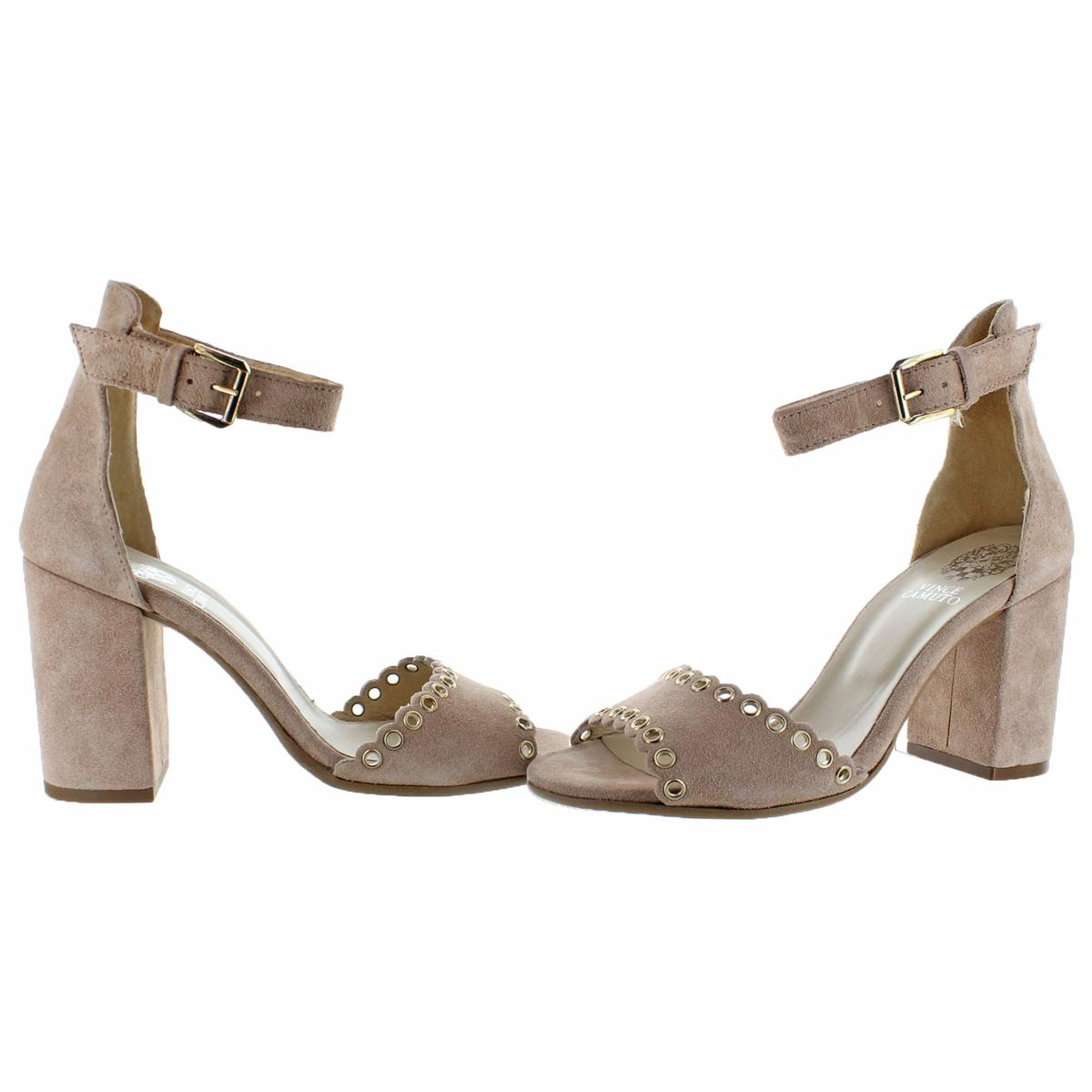 Vince-Camuto-Missy-Women-039-s-Suede-Open-Toe-Block-Heel-Dressy-Sandal-Shoes thumbnail 6