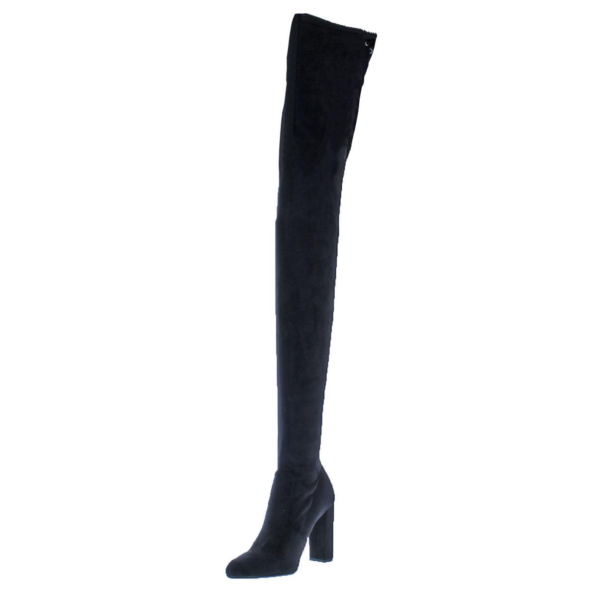 48c0f3e3746 Details about Steve Madden Womens Elektric Black Thigh-High Boots 5.5  Medium (B