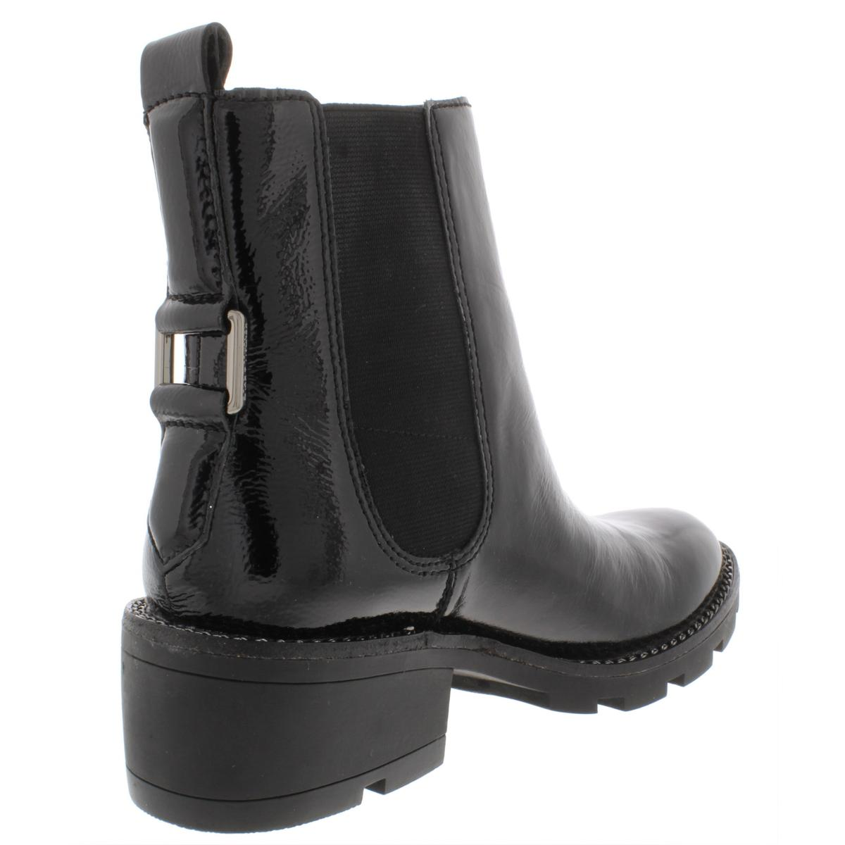 Kendall + Kylie Womens Porter Patent Leather Leather Leather Chain Chelsea Boots shoes BHFO 3987 5ea083