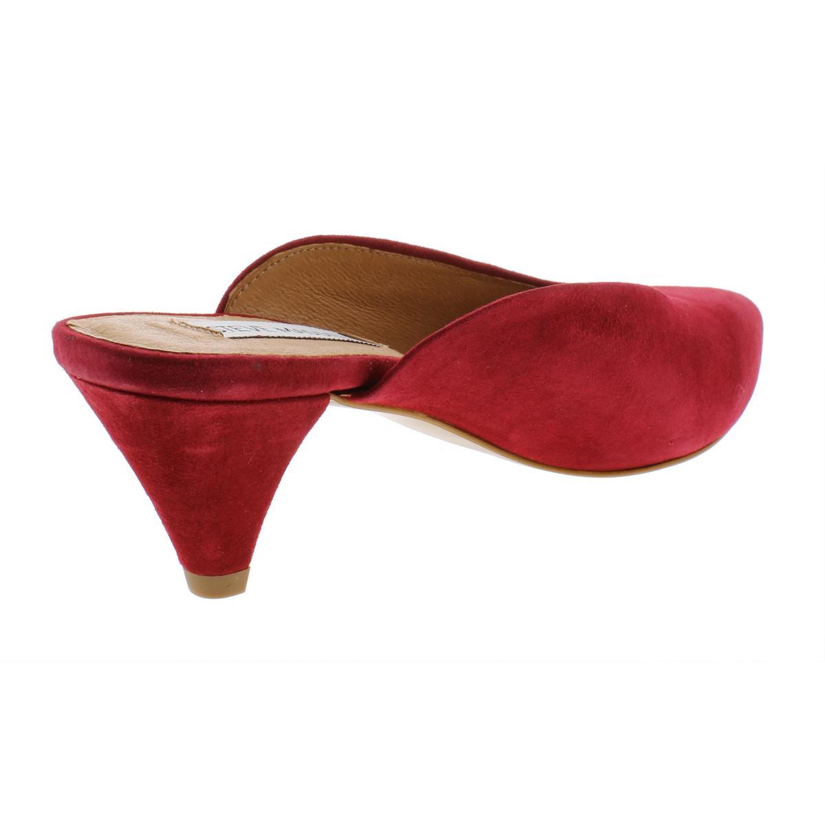 Steve-Madden-Womens-Fiesta-Leather-Pointed-Toe-Dress-Mules-Heels-BHFO-0632 thumbnail 8