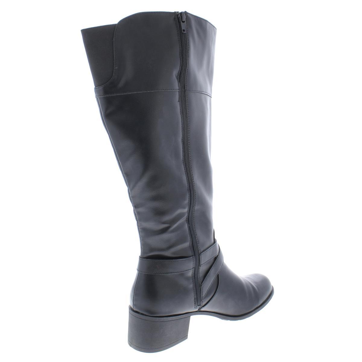 Style & Co. Damenschuhe Damenschuhe Damenschuhe Venesa Wide Calf Faux Leder Riding Stiefel Schuhes BHFO 9769 f698c7