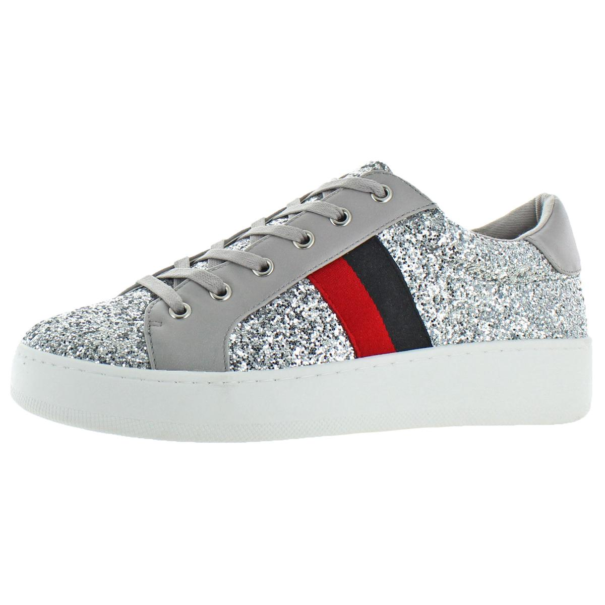 b752c66ddfb Details about Steve Madden Womens Belle Silver Fashion Sneakers Shoes 8  Medium (B