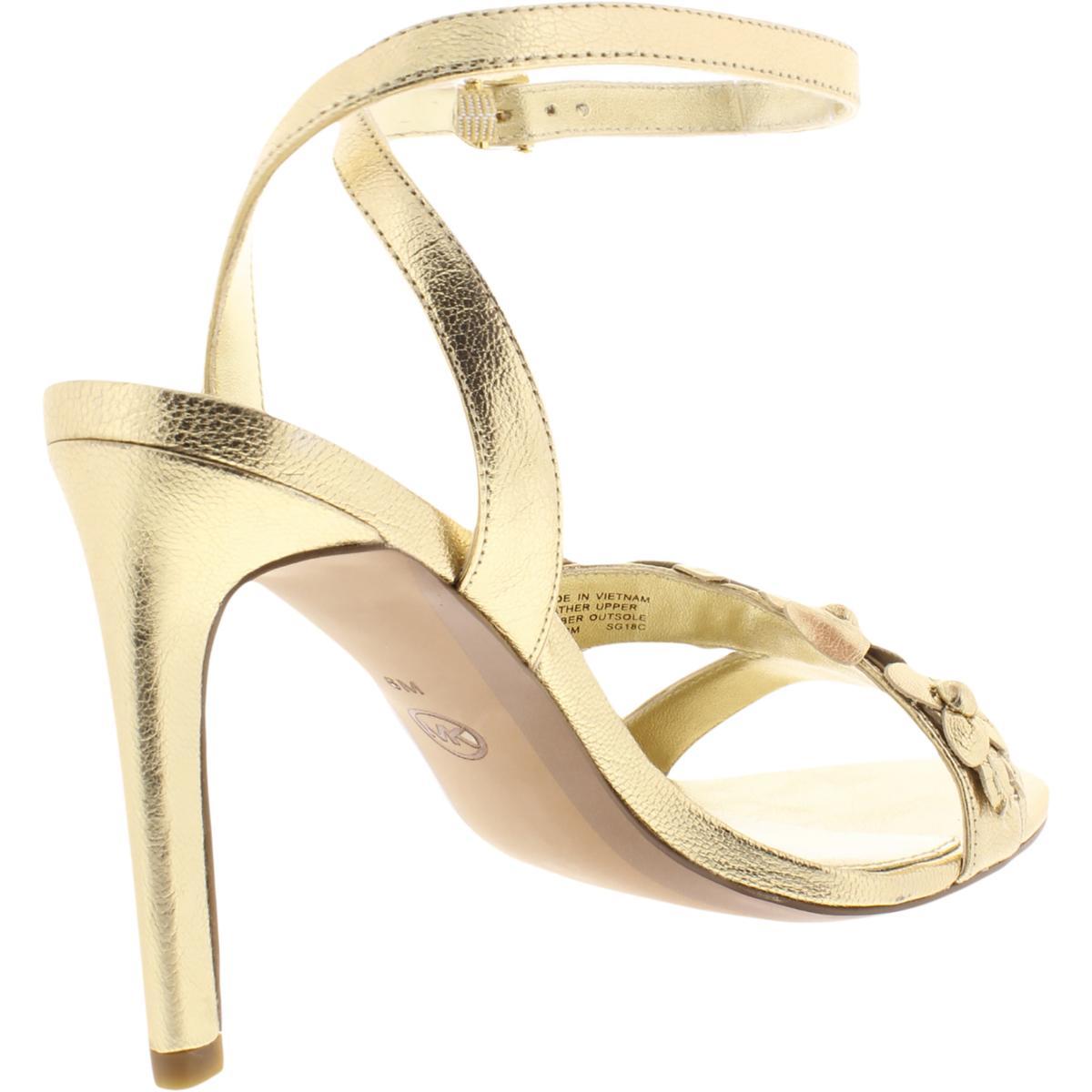 MICHAEL-Michael-Kors-Womens-Tricia-Leather-Dress-Sandals-Shoes-BHFO-6011 thumbnail 4