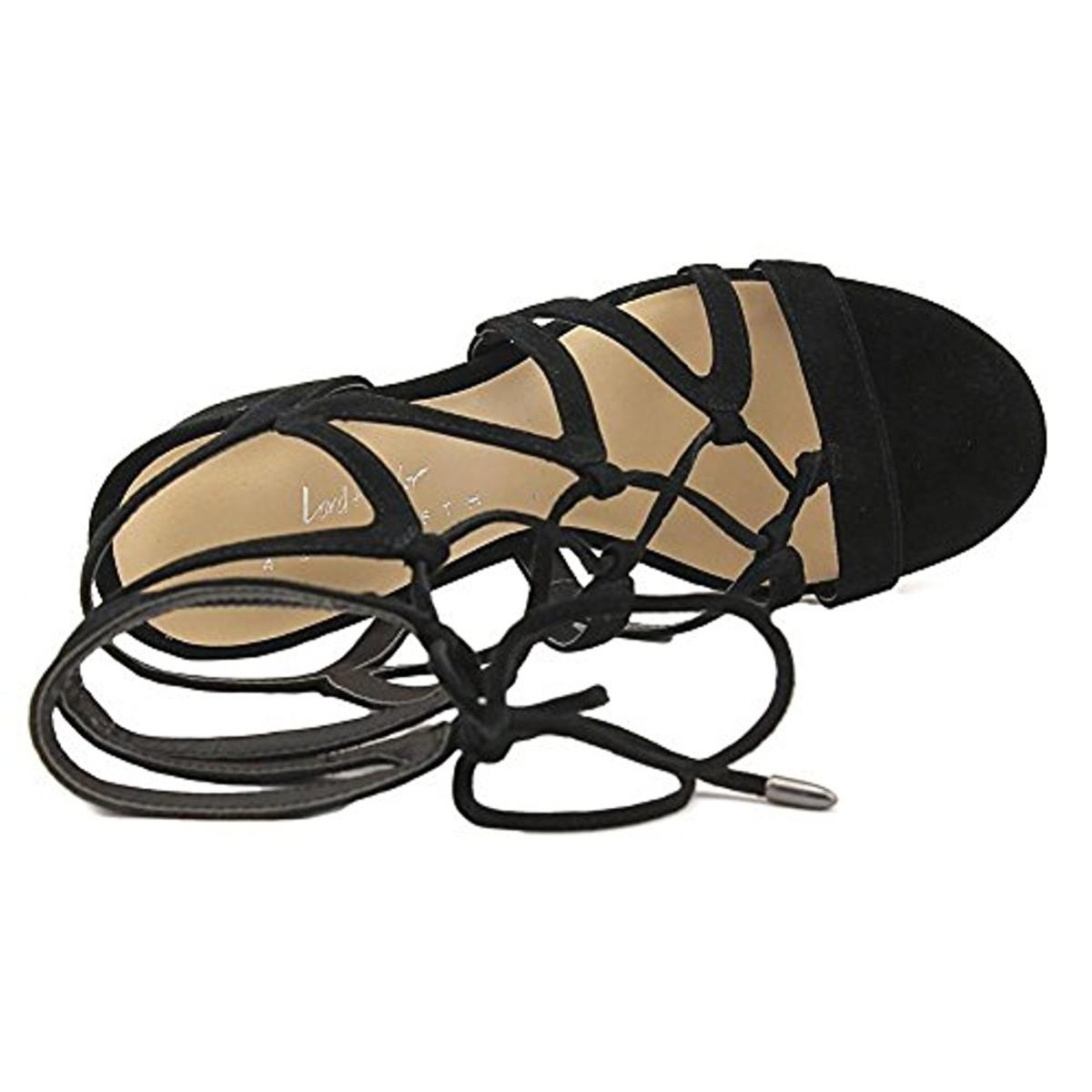 424-Fifth-Womens-Honey-Suede-Caged-Open-Toe-Dress-Sandals-Shoes-BHFO-2224 thumbnail 9