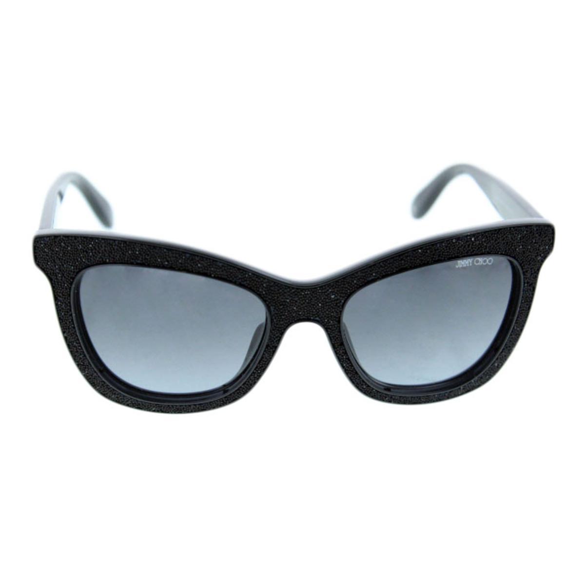 Jimmy Choo Flash 6170 Feminino Preto Cristais Swarovski Cat Eye ... c2f525e3e1