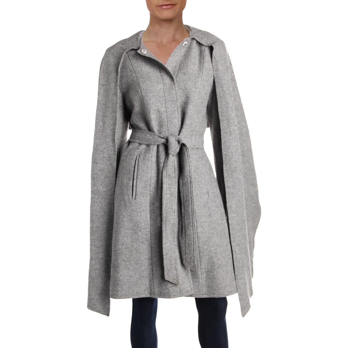 Cole Haan Womens Winter Wool Blend Midi Walker Coat