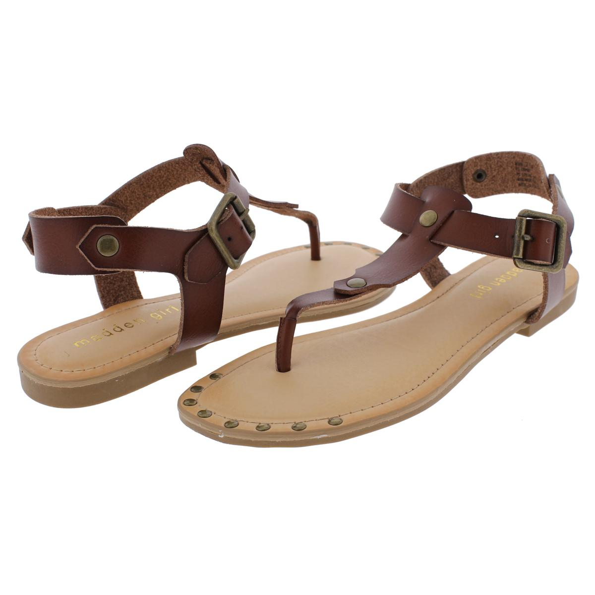 Madden-Girl-by-Steve-Madden-Womens-Mona-Studded-T-Strap-Sandals-Shoes-BHFO-9554 thumbnail 7