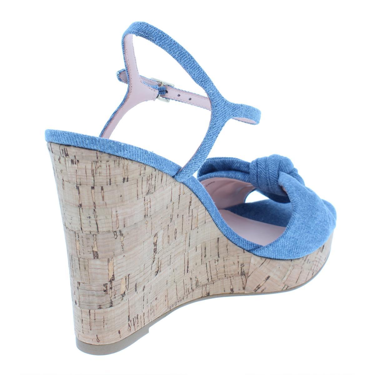 f8668ee69f60 Kate Spade Womens Janae Bow Wedge Sandals Shoes BHFO 9390