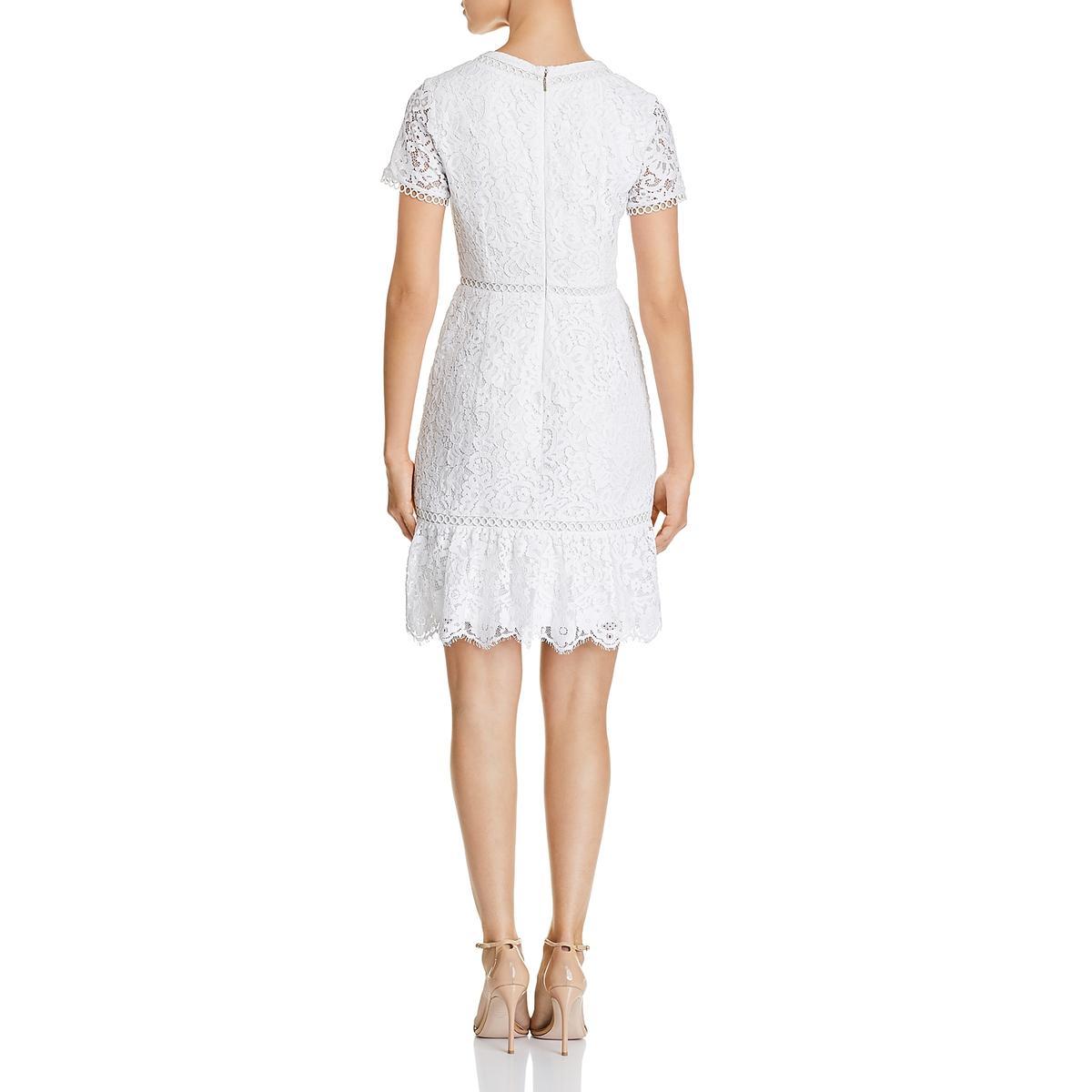 Karl Lagerfeld Paris Womens Lace V-Neck Party Midi Dress BHFO 3871