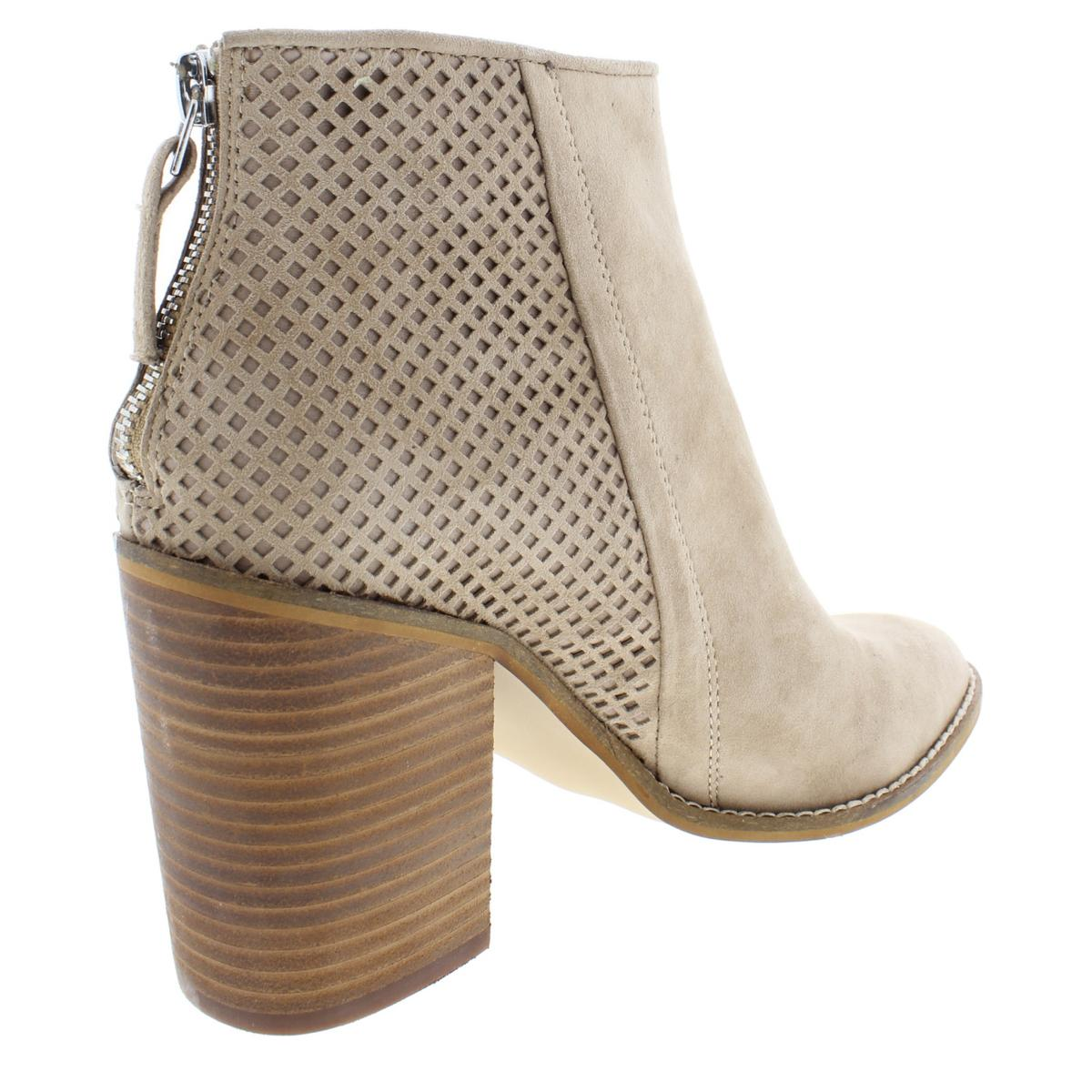 1a6ffb6cf30 Steve Madden Womens Replay Suede Stacked Heel Ankle Booties Shoes ...