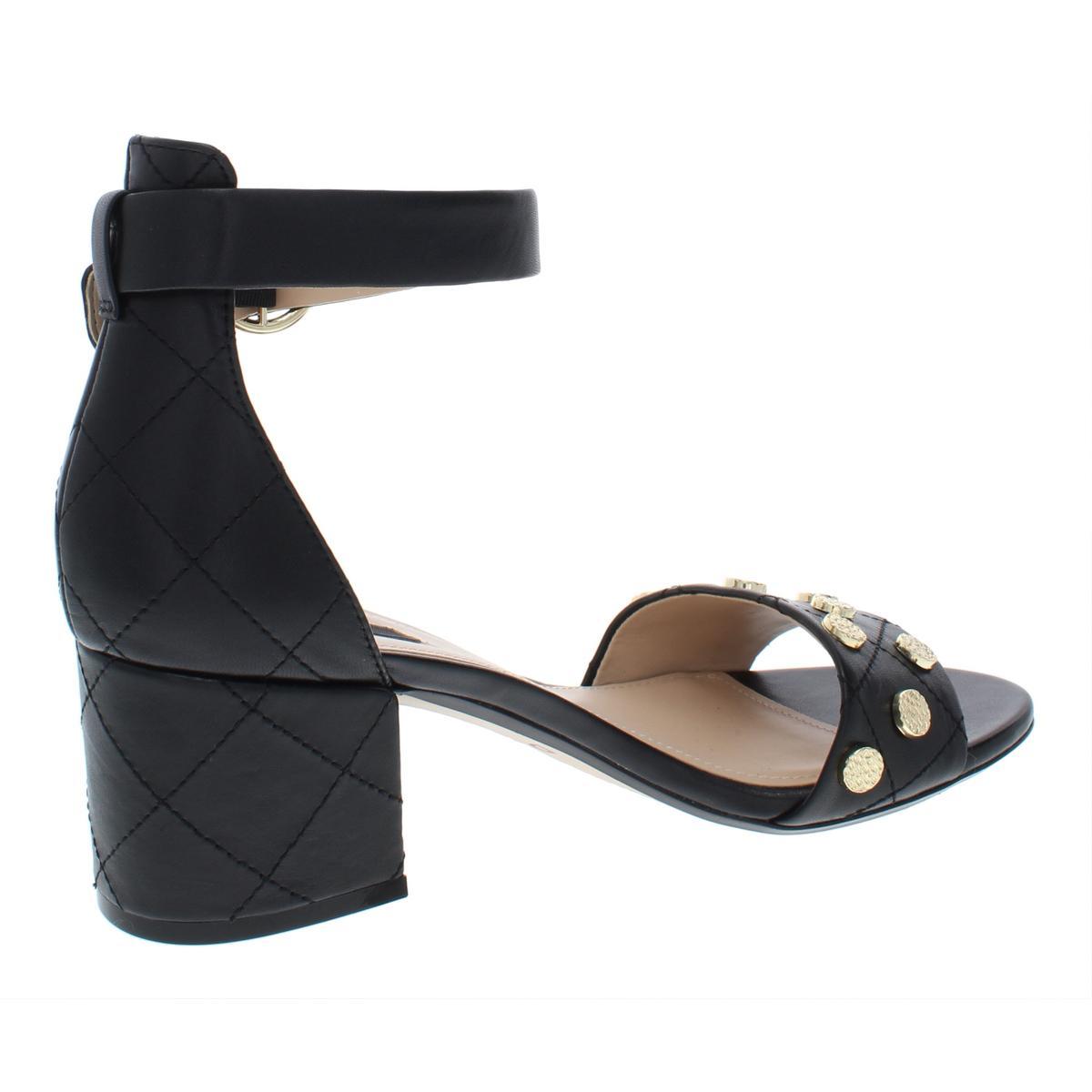 DKNY donna Henli Leather Studded Block Heel Dress Sandals Evening Evening Evening BHFO 4238 7f4046