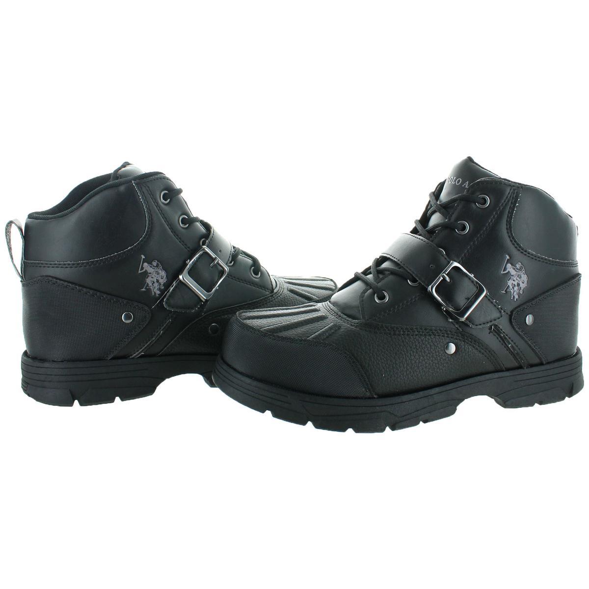 U-S-Polo-Assn-Kedge-Men-039-s-Buckle-Duck-Toe-Winter-Snow-Boots thumbnail 4