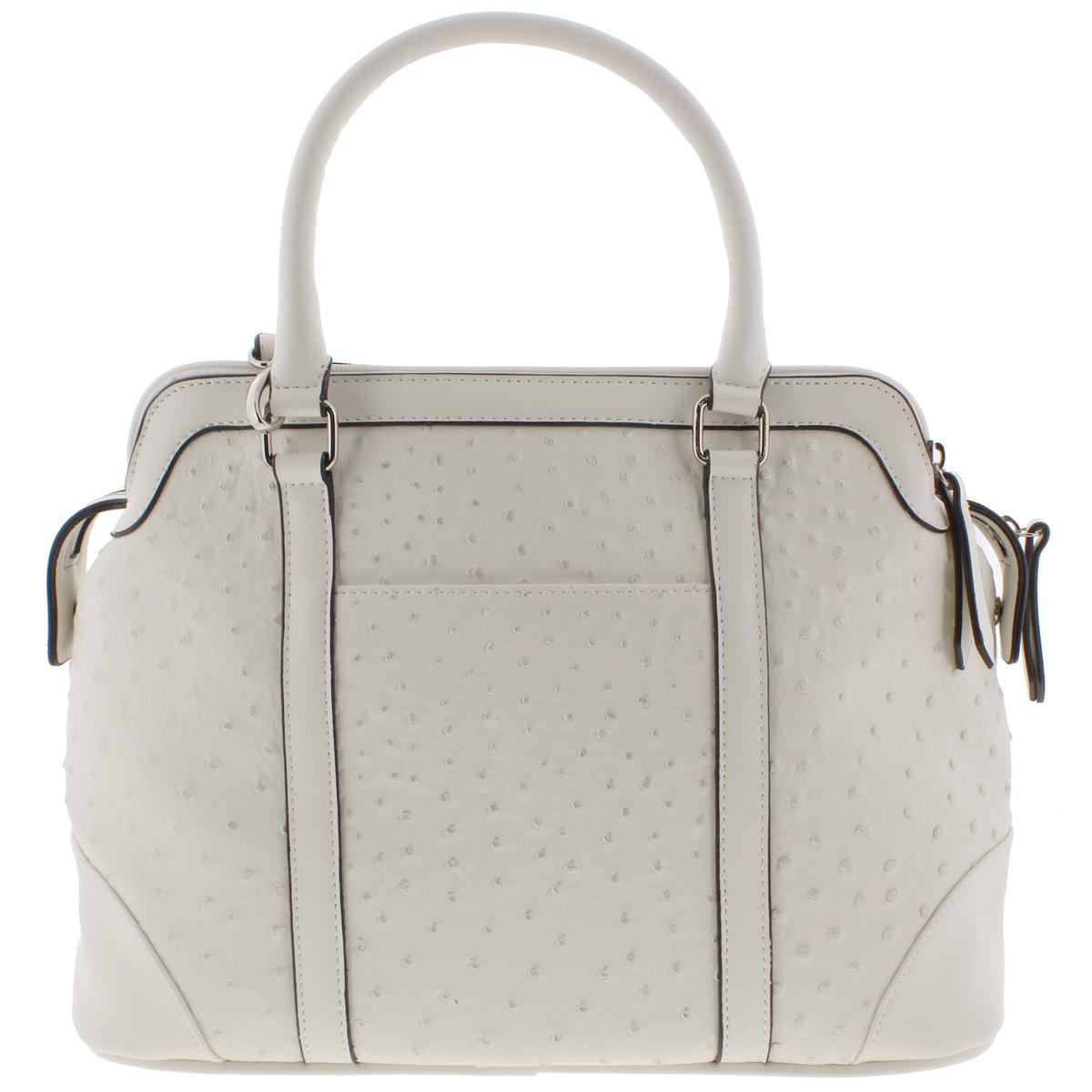 London-Fog-3688-Womens-Textured-Leather-Convertible-Tote-Handbag-Purse-BHFO
