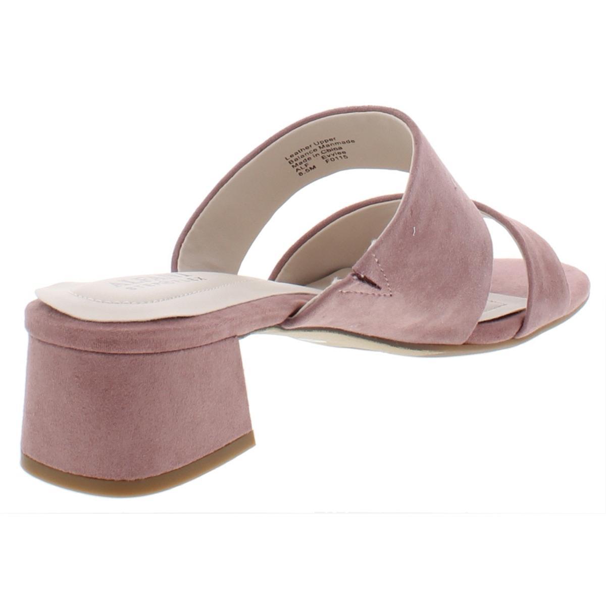 Alfani-Womens-Evviee-Faux-Leather-Block-Heel-Dress-Slide-Sandals-Shoes-BHFO-6323 thumbnail 6