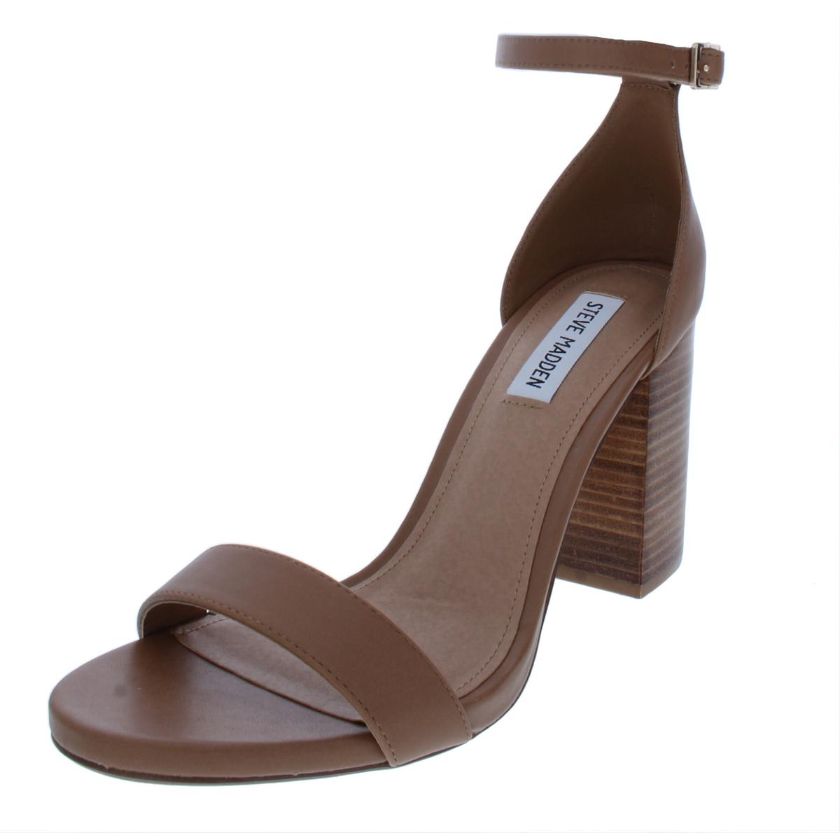 0deceed45102e Details about Steve Madden Womens Garcia Solid Stacked Heel Dress Sandals  Shoes BHFO 3059