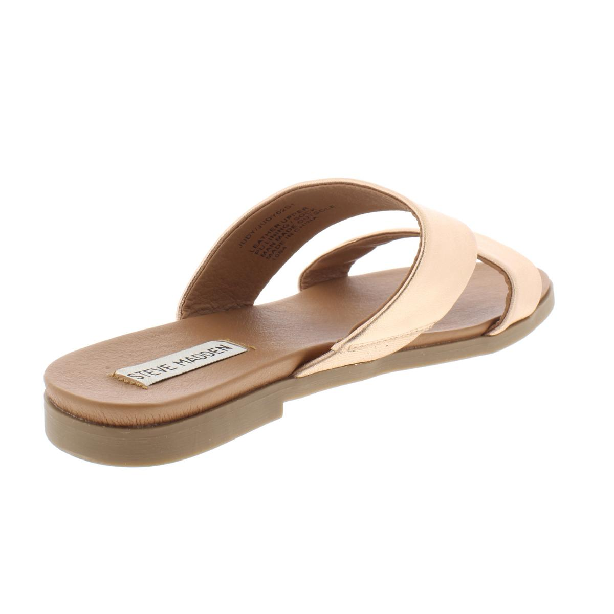 Steve-Madden-Womens-Judy-Leather-Sandals-Flats-Shoes-BHFO-7653 thumbnail 8