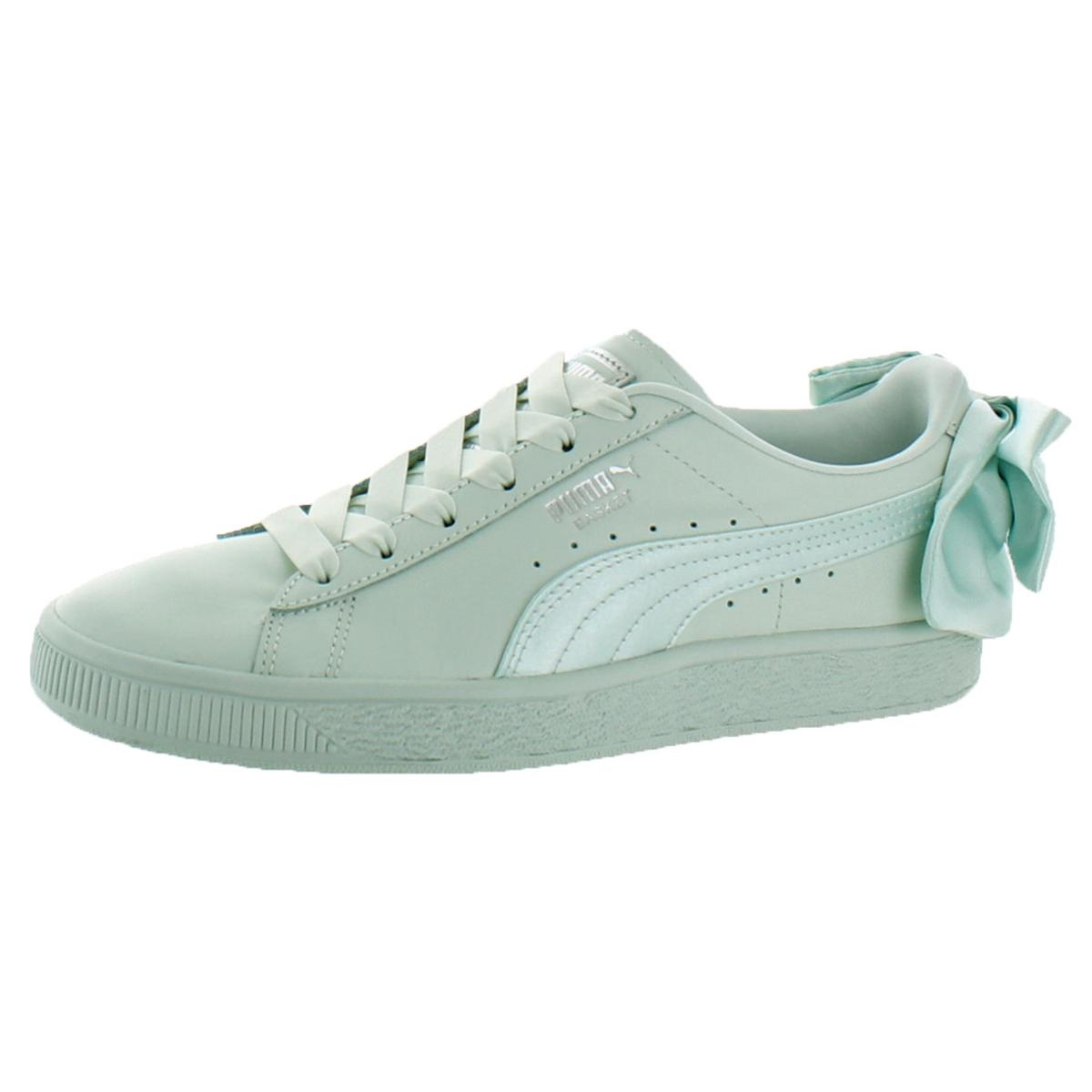 e9d13019d43b9 Details about Puma Womens Basket Bow Blue Fashion Sneakers Shoes 8.5 Medium  (B,M) BHFO 4837