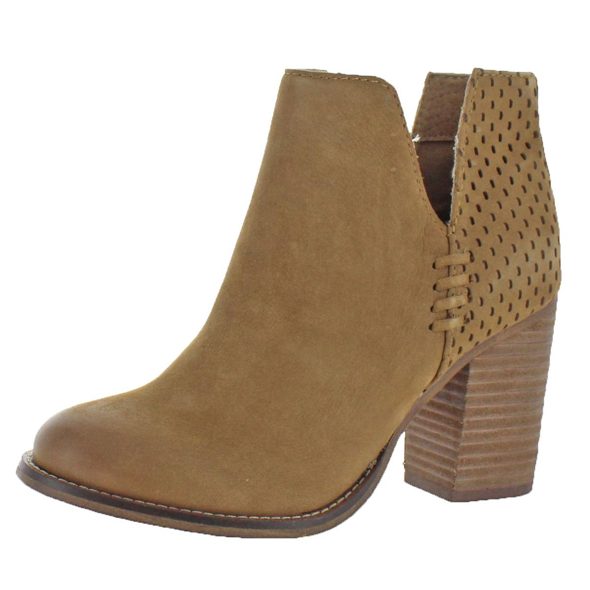 2d993198c Steve Madden Womens Sydelle Ankle Stacked Heel Fashion Booties Heels ...