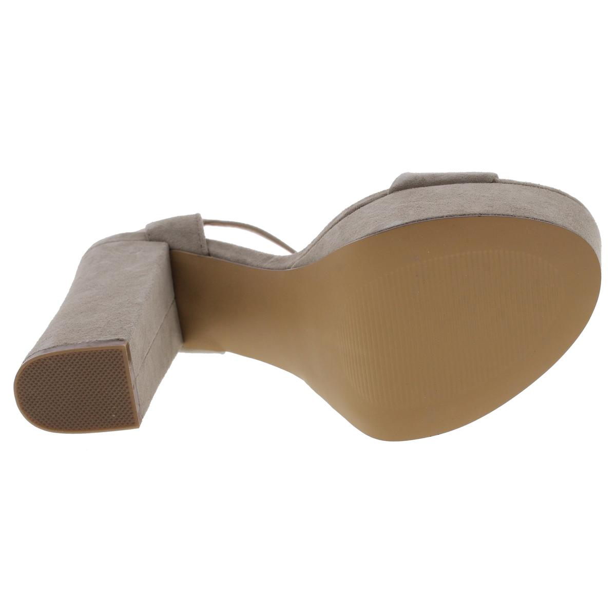 Steve-Madden-Womens-Joline-Suede-Covered-Heel-Platform-Sandals-Shoes-BHFO-8617 thumbnail 10