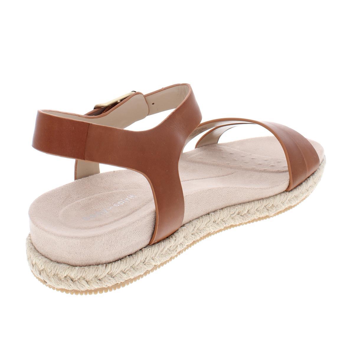 bd40dd57c2a Easy Spirit Womens Ixia Solid Leather Platform Espadrilles Sandals ...