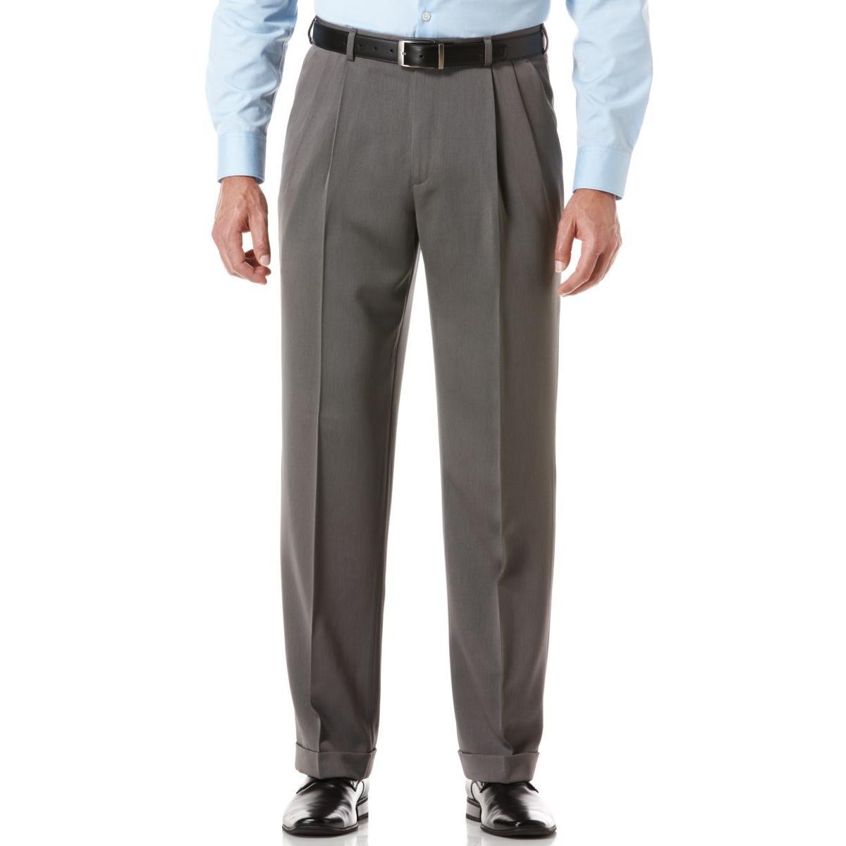 Perry-Ellis-Mens-Micro-Melange-Classic-Fit-Dress-Pants-Trousers-BHFO-5828