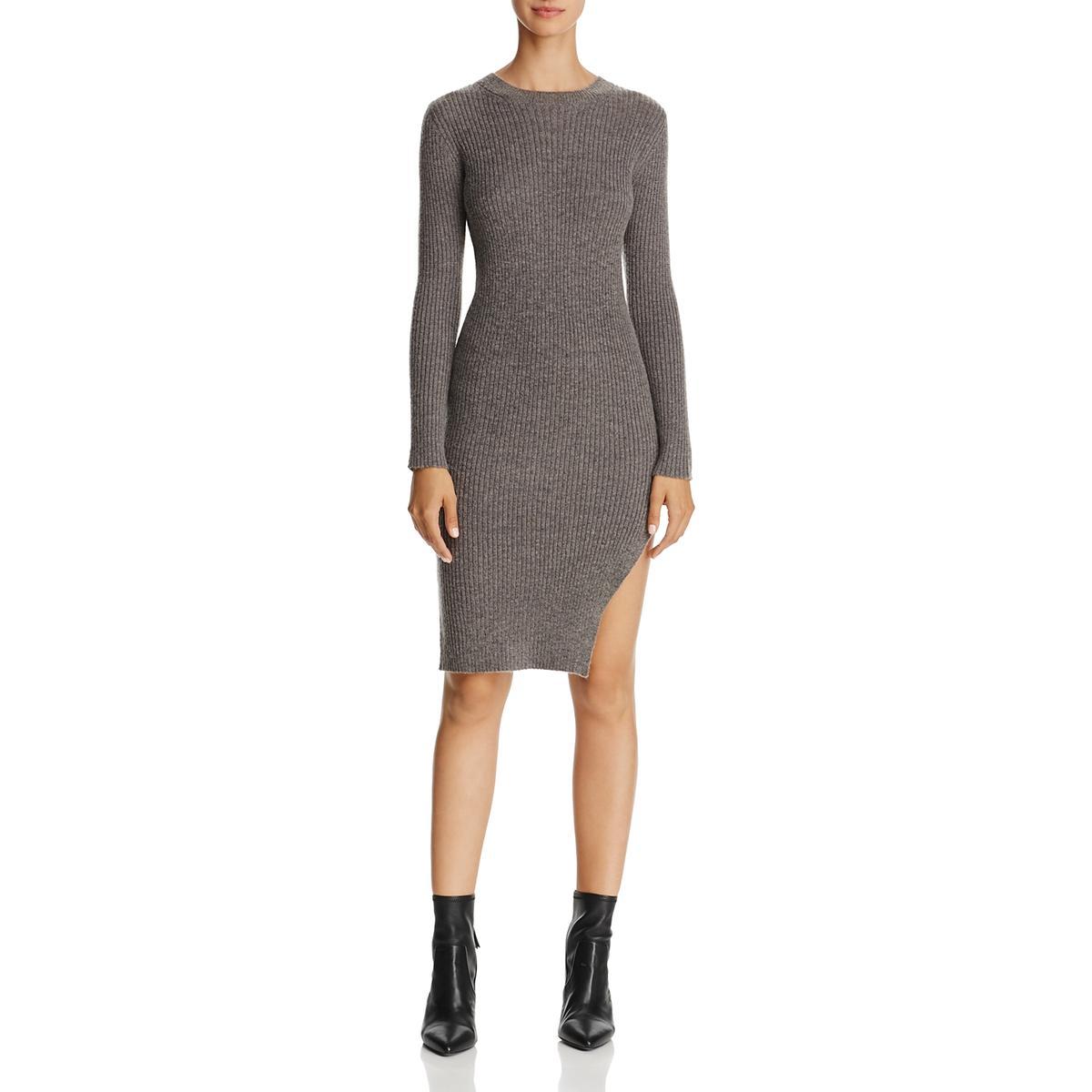 d74c7514513f Details about Freeway Womens Gray Wool Blend Knee-Length Side Slit  Sweaterdress L BHFO 7266