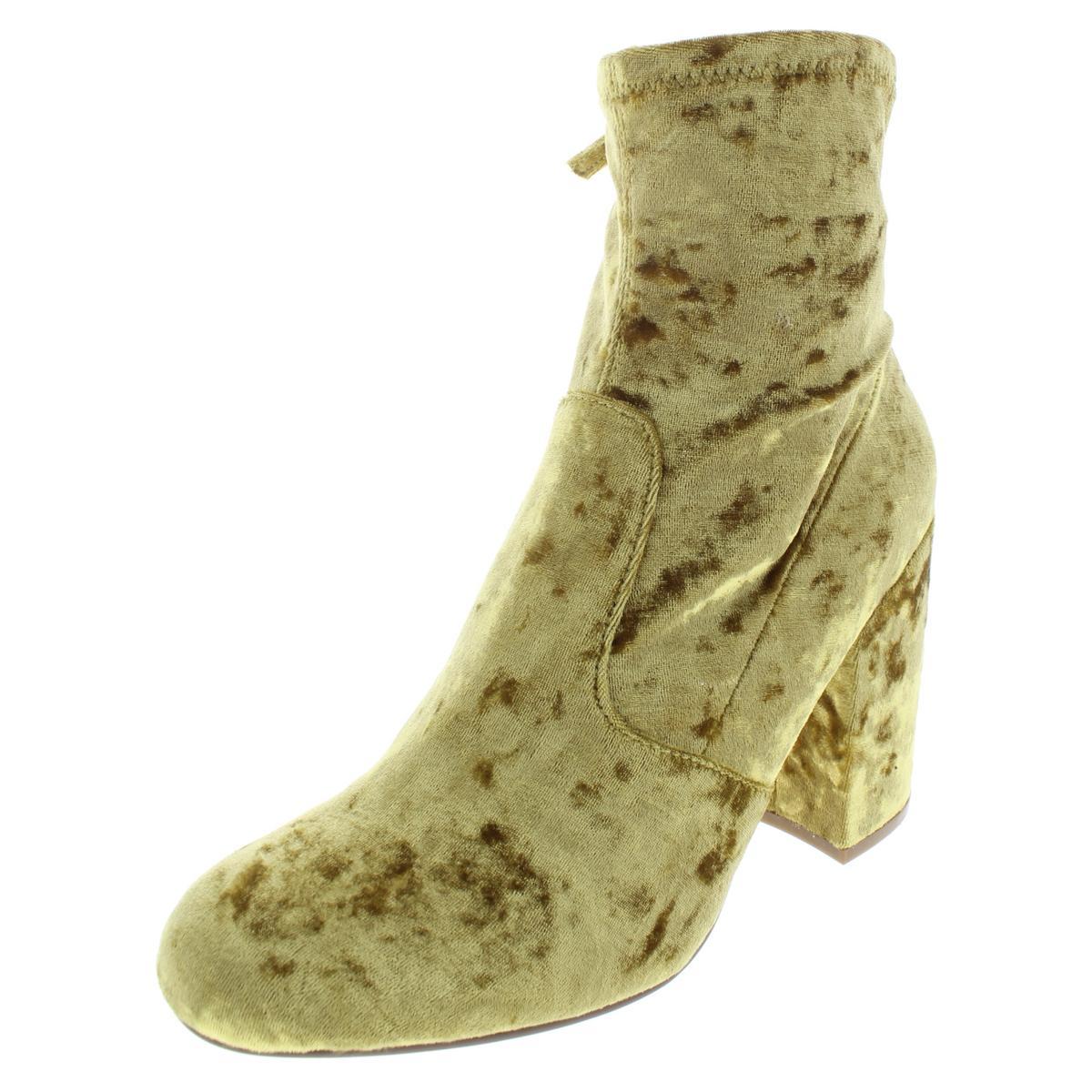661a441c6d0 Details about Steve Madden Womens Gaze Gold Velvet Booties Shoes 7.5 Medium  (B