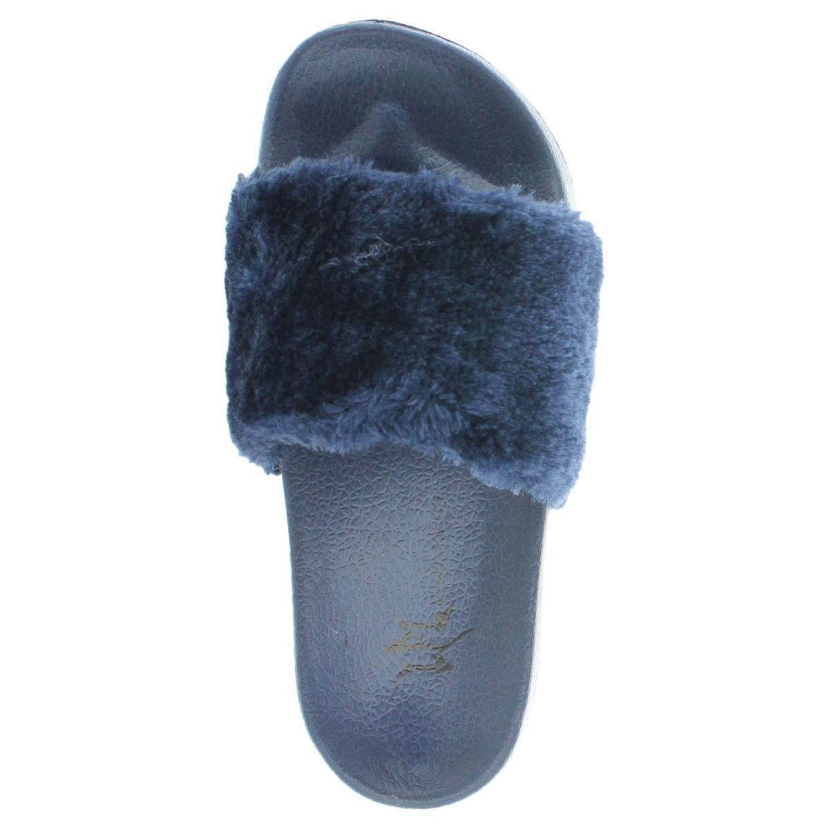 e155b0ff7dc1a3 LFL by Lust for Life Women s Faux Fur Pool Slide Sandals