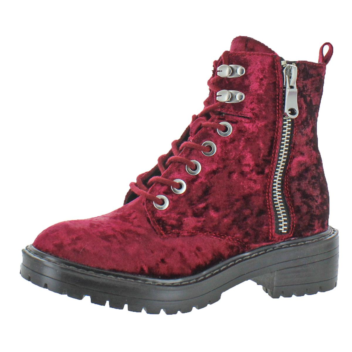 4db23676d3d Details about Steve Madden Womens Revive Red Ankle Combat Boots Shoes 6  Medium (B