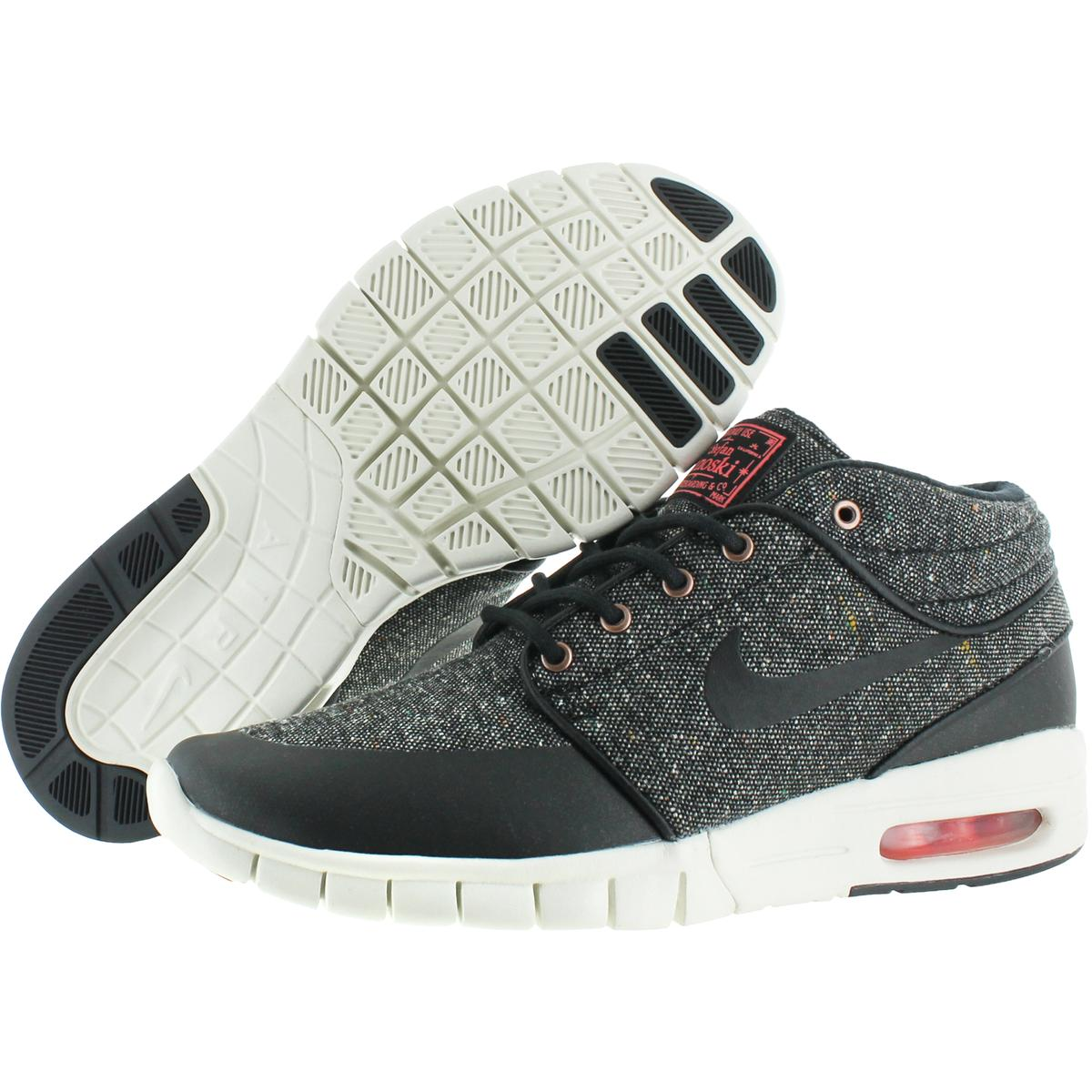 Details about Nike Mens Stefan Janoski Max Mid Black Skate Shoes 6.5 Medium  (B 0186e8595